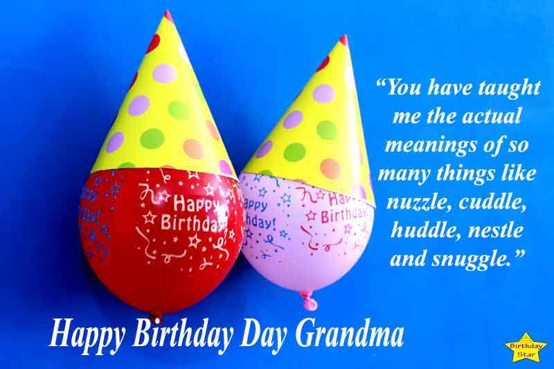 Grandma Happy Birthday Quotes Grand Daughter