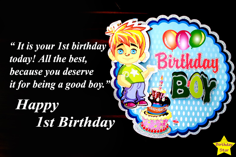 1st birthday quotes for baby boy from mom