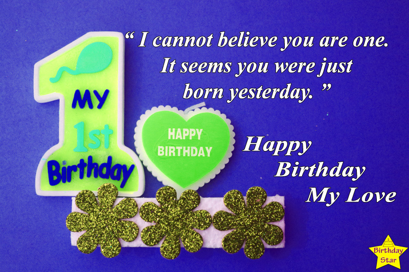 1st birthday quotes for baby boy from parents