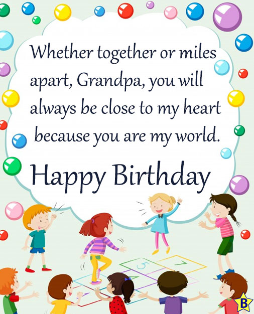 6 Birthday Quotes for Grandfather