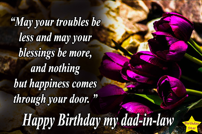 Amazing birthday quotes for father in law