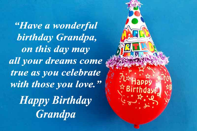 Birthday Quotes for Grandpa from Grandson