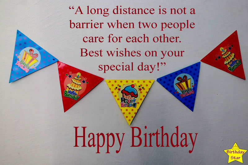 Birthday to Long Distance Friend