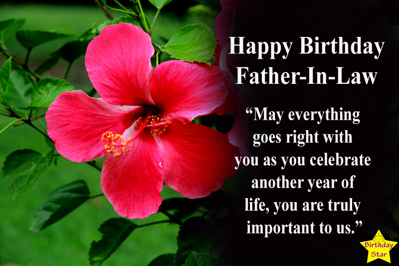 Happy Birthday Quotes for Father in law