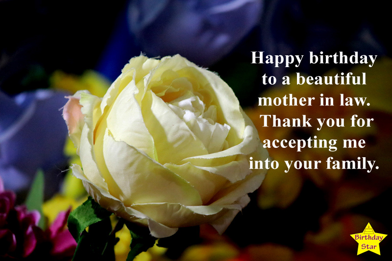 Happy Birthday Quotes for My Mother In Law