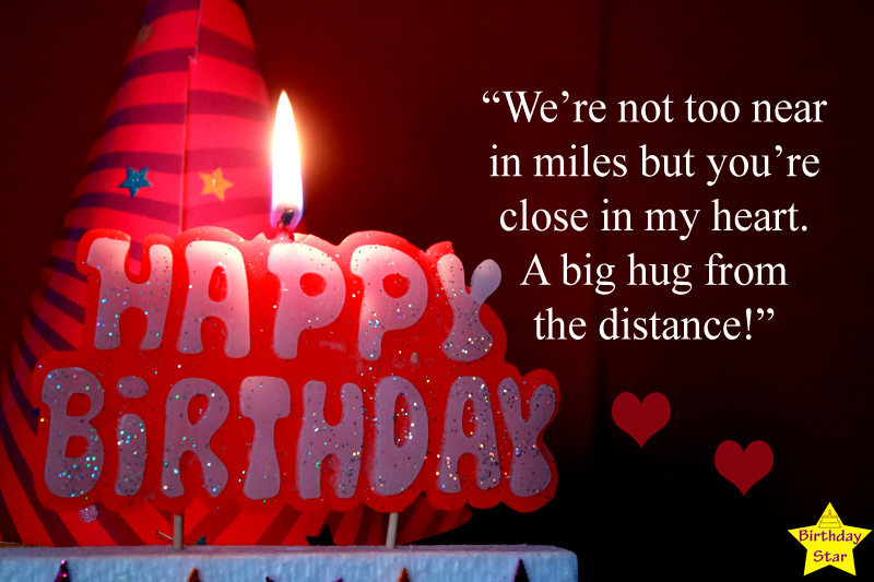 Happy Birthday to Long Distance Friend with Candle