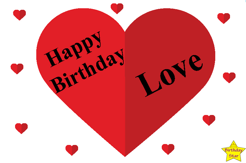 Happy birthday quotes for my love with heart