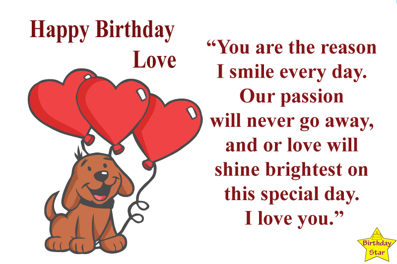 best birthday quotes for my love