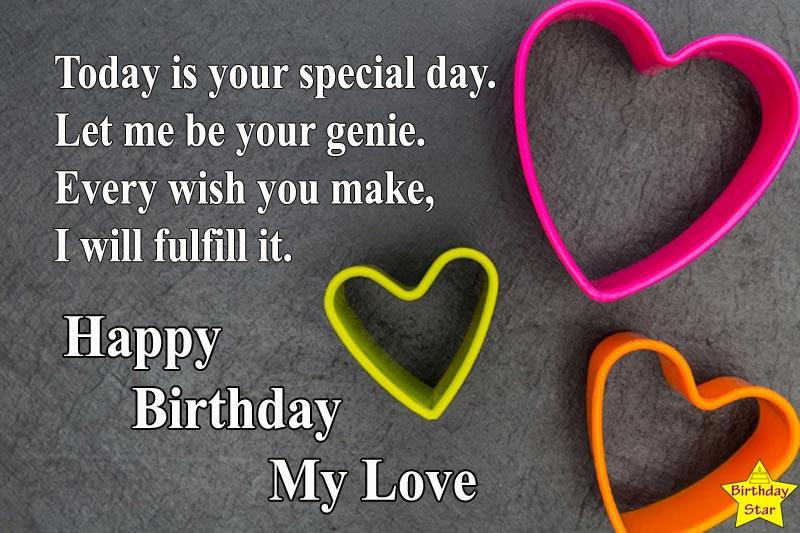 birthday my love