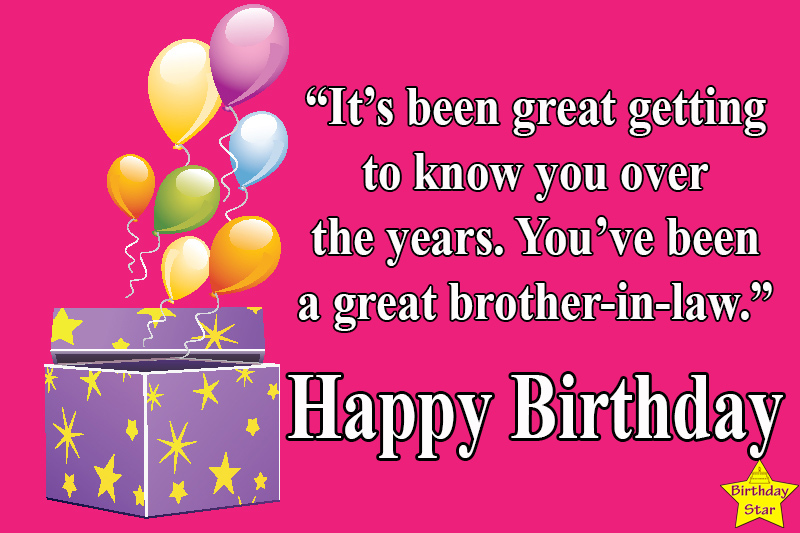 birthday quotes for brother in law in english