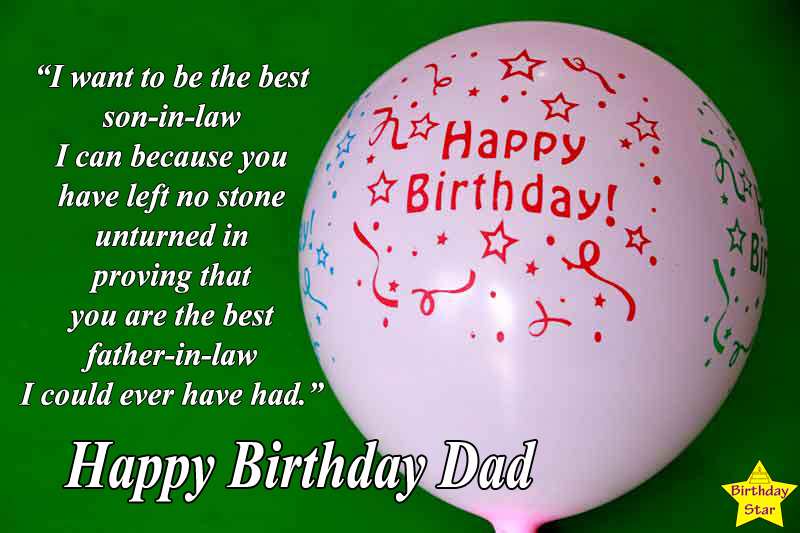 birthday quotes for dad in law