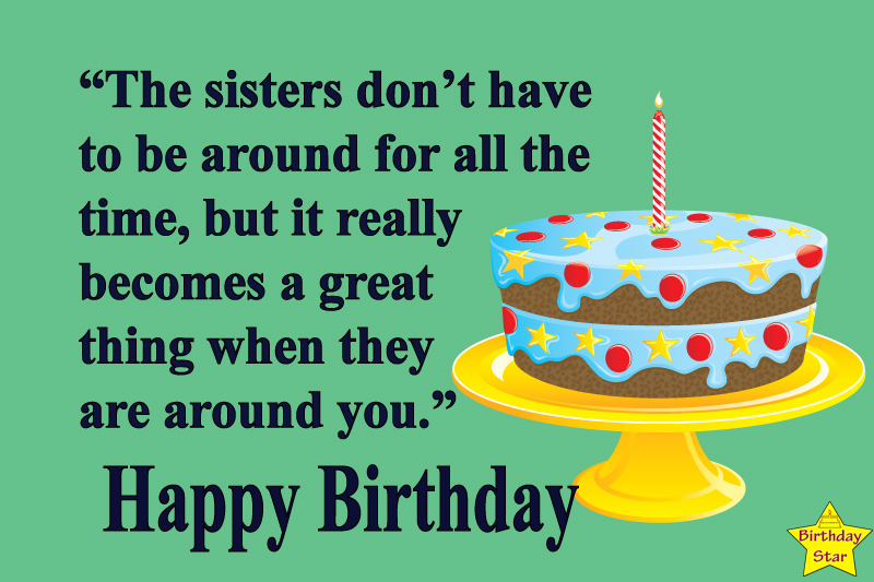 birthday quotes for elder sister from younger sister