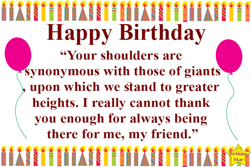 birthday quotes for male friend from female