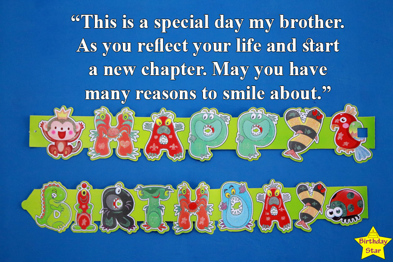 birthday quotes for younger brother from elder brother