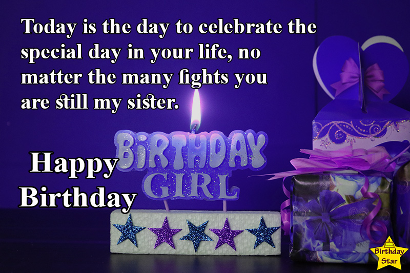 birthday quotes for younger sister with candle