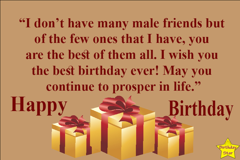 birthday quotes male friend