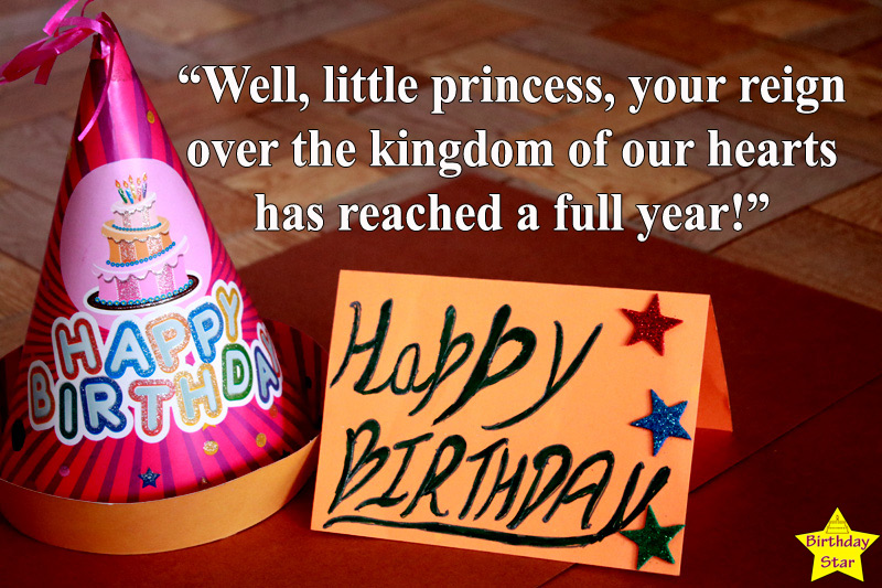 first birthday quotes for baby girl with cap