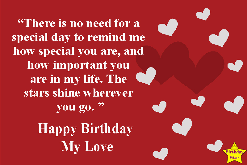 350 Romantic Happy Birthday Quotes For My Love