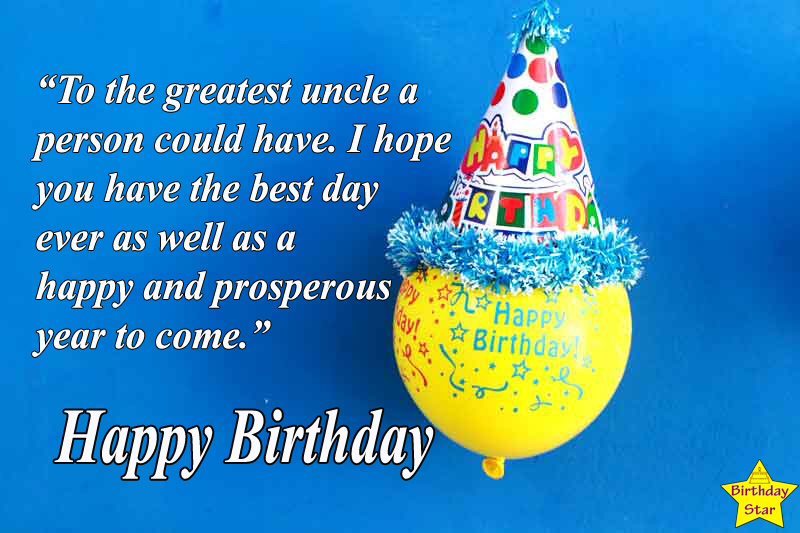 happy birthday quotes for best uncle
