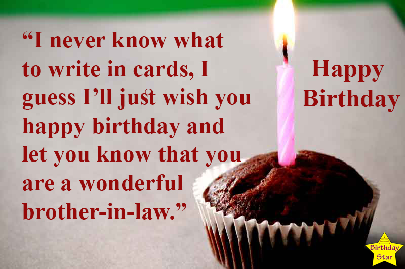 happy birthday quotes for brother in law with candle
