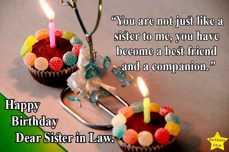 happy birthday quotes for sister in law with candle