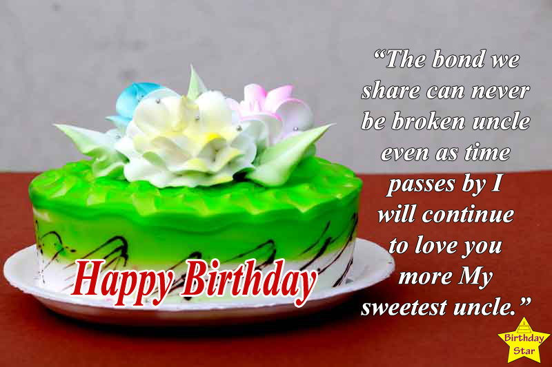 happy birthday quotes for uncle with cake
