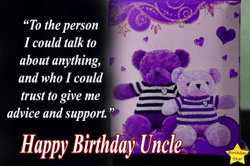 happy birthday quotes for uncle with gift