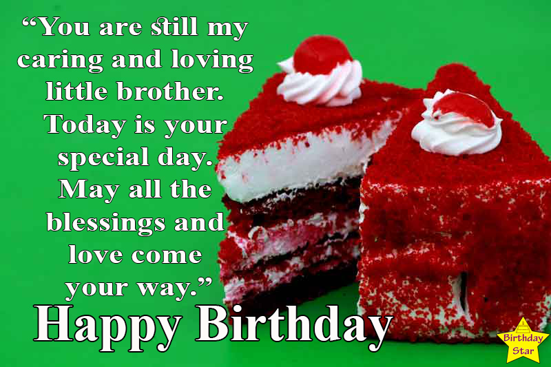 happy birthday quotes for younger brother in english