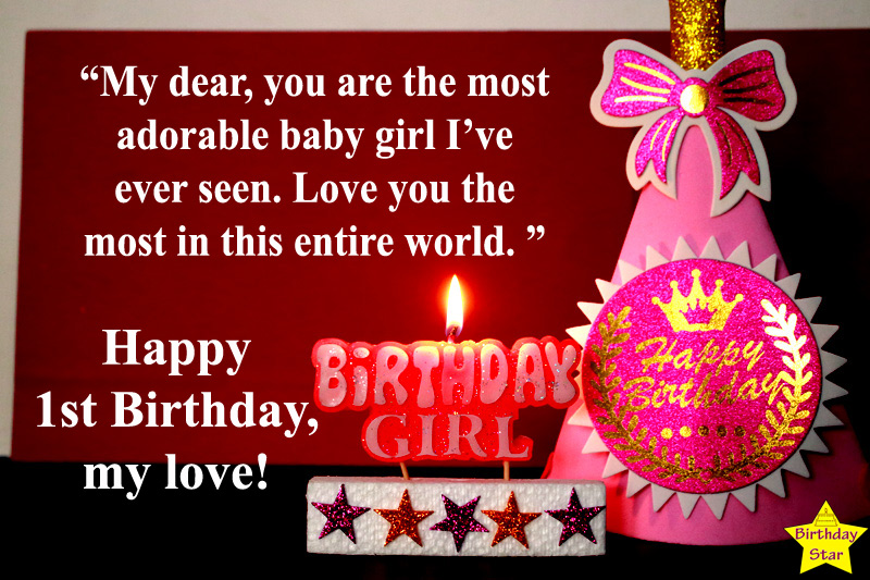 quotes for my baby girl 1st birthday