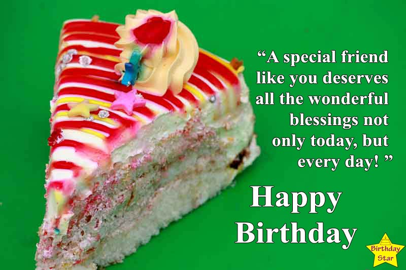 birthday cake images for friend with quotes