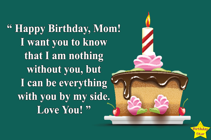 birthday cake quotes for mom