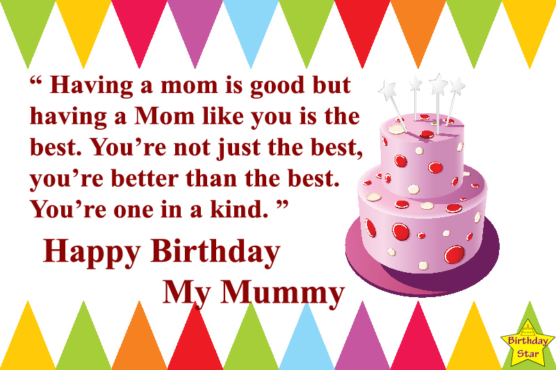 birthday cake quotes for mother