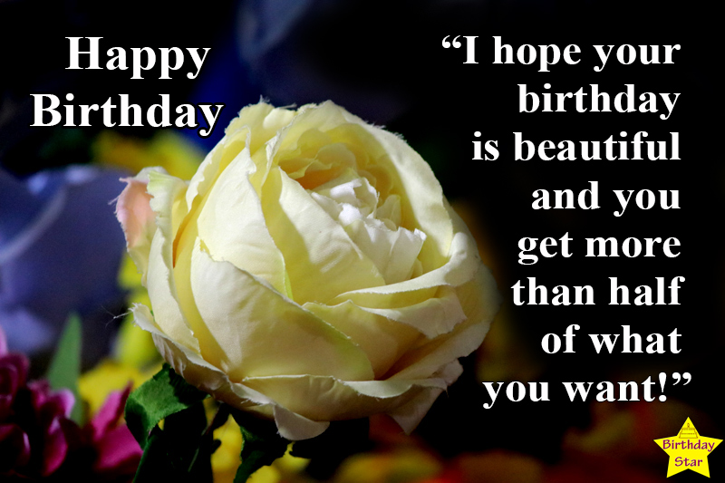 birthday images with flowers and quotes for friend