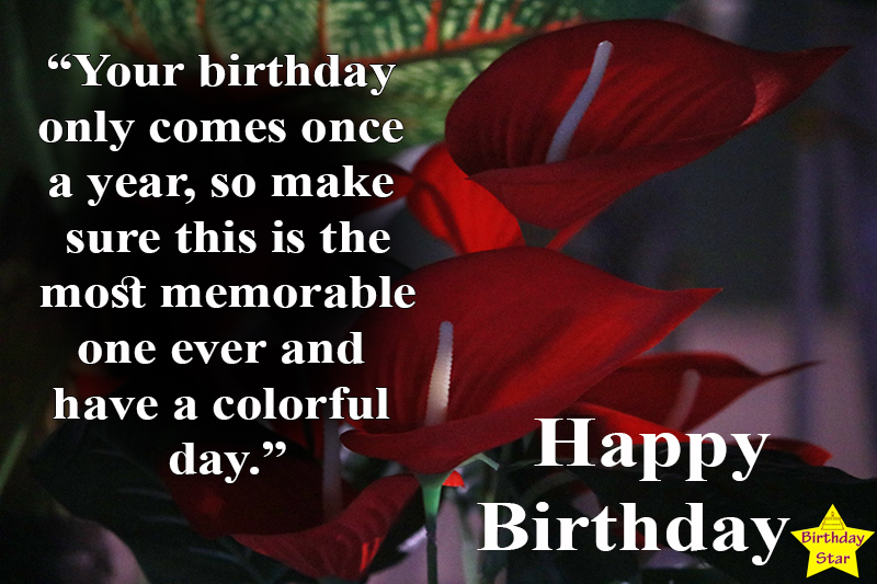 birthday images with flowers and quotes in english