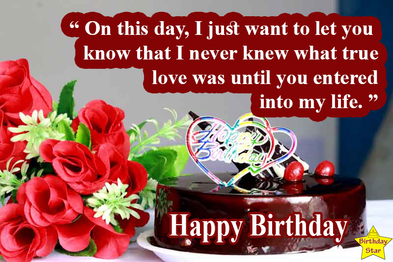 birthday quotes for fiance female with cake