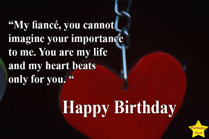 birthday quotes for fiance male