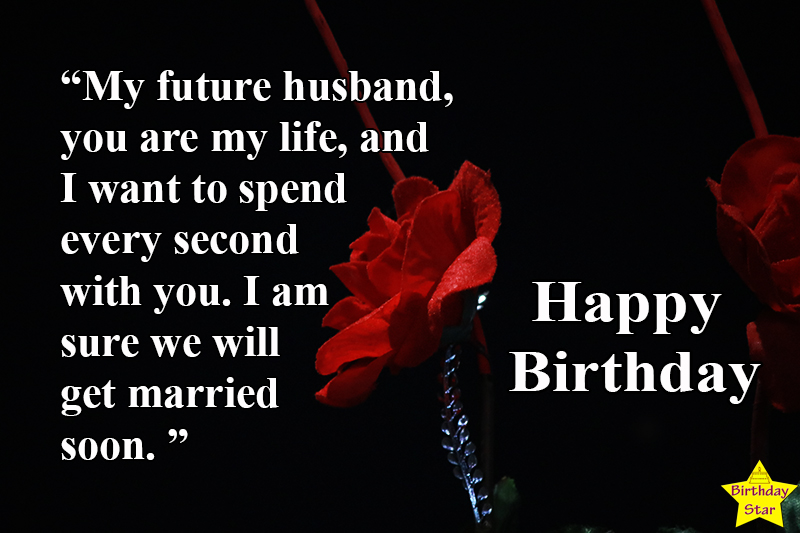 birthday quotes for fiance male with flower
