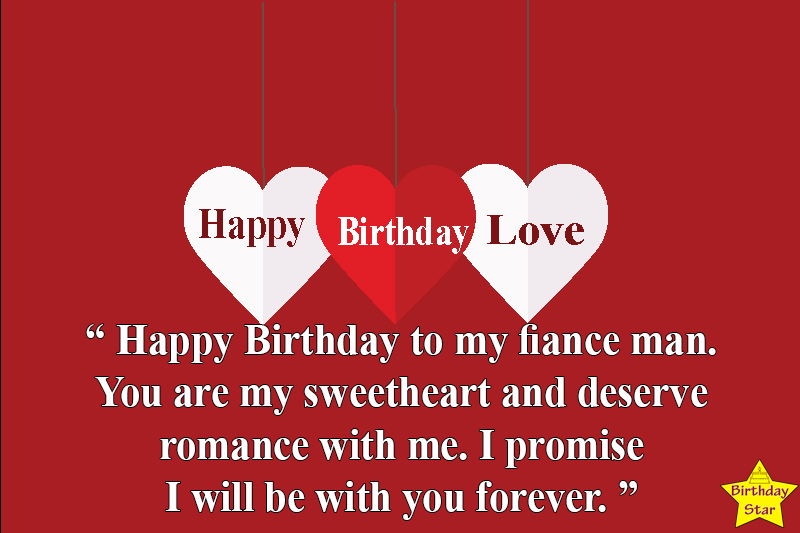 birthday quotes for fiance male with heart