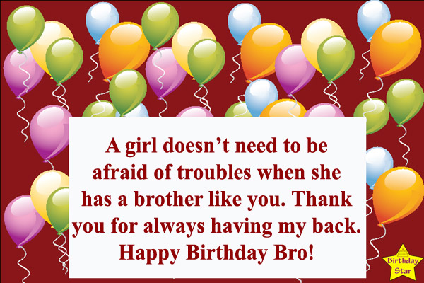 birthday wishes for elder brother from sister