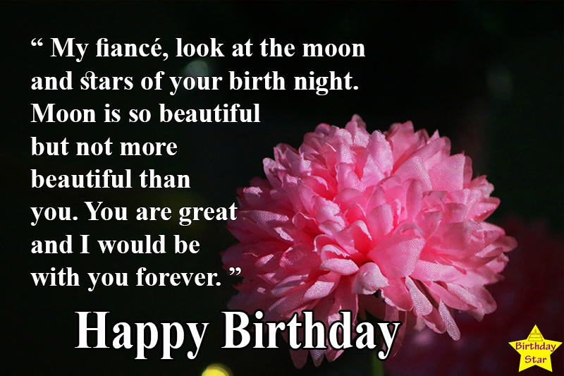 cute happy birthday quotes for fiance