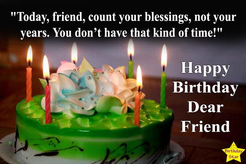 happy birthday cake images with quotes for friend