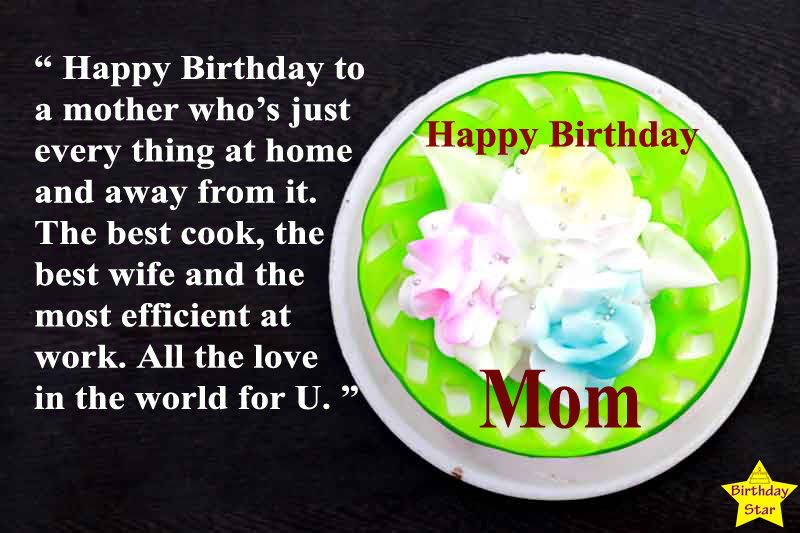 happy birthday cake quotes for mom