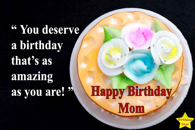 happy birthday cake quotes with image for mom