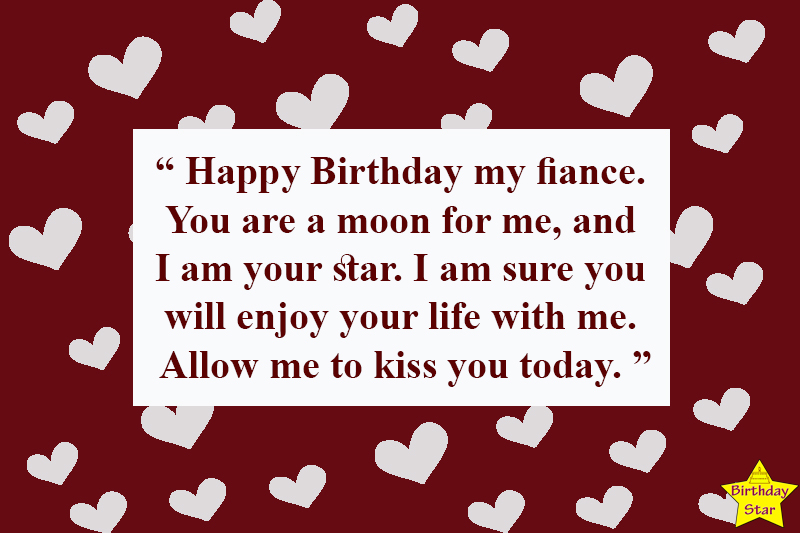 romantic birthday quotes for fiance male