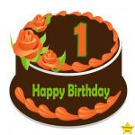 1st birthday cake clipart chocolate