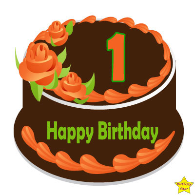 1st birthday cake clipart chocolate