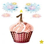 1st birthday cake clipart sparkle