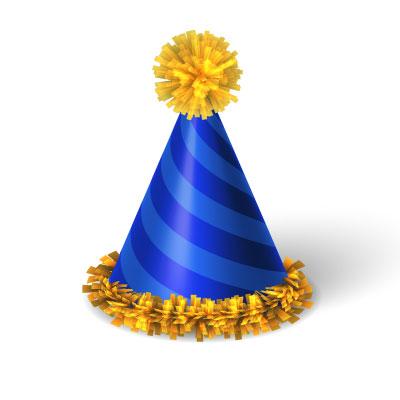 Birthday Cap Clipart 3d free
