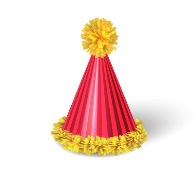 Birthday Cap Clipart red and yellow color