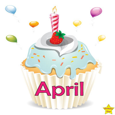 Birthday Cupcake Clipart April